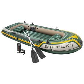 Лодка Seahawk 4, 4 местная, 351 х 145 х 48 см, вёсла, насос, до 480 кг, 68351NP INTEX Ош