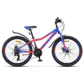 Велосипед 24' Stels Navigator-410 MD, V010, цвет синий/неоновый красный, размер 12' Ош