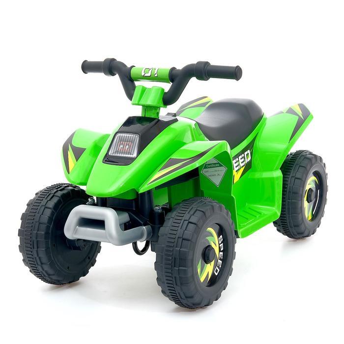 Электромобиль Квадроцикл, цвет зелёный
