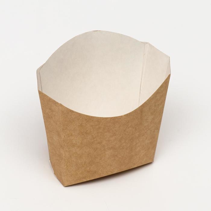 Упаковка для картофеля фри, крафт, 13 х 11,3 см, 130 гр