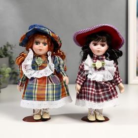 Кукла коллекционная керамика 'Малышка Зоя в клетчатом платье'МИКС 20 см Ош