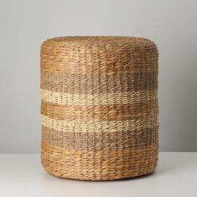 Сидушка плетеная, 40х45 см, морские водоросли, камыш