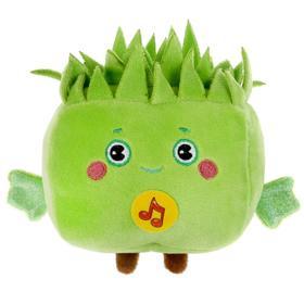 Мягкая музыкальная игрушка «Зеленый кубик», 10 см