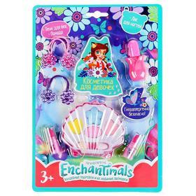 Косметика для девочек «Энчантималс», тени для век, помада, лак для ногтей