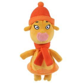 Мягкая игрушка «Корова Зо в зимней одежде», Оранжевая корова, 21 см, музыкальная