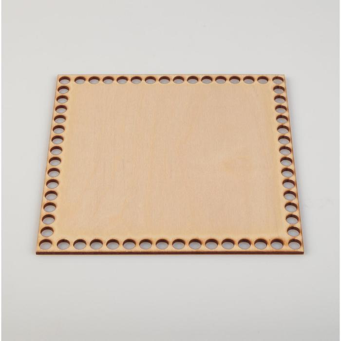 "Заготовка для вязания ""Квадрат"", донышко фанера ЭКСПОРТ, 19.5×19.5 см, d=9мм"