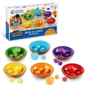 Набор для сортировки «Цветные гнёздышки», 36 элементов