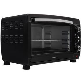 Мини-печь AVEX TR 490 BL, 2000 Вт, 47 л, 100-250°С, таймер, чёрная