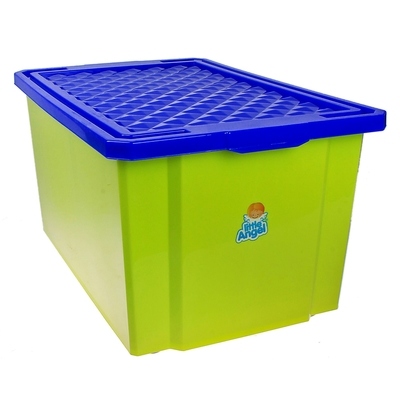 Ящик для игрушек с крышкой «Лего», 57 л, на колёсиках, цвет фисташковый - Фото 1