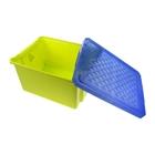 Ящик для игрушек с крышкой «Лего», 57 л, на колёсиках, цвет фисташковый - Фото 2