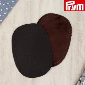 Заплатки для одежды, 10 × 14 см, пришивные, пара, цвет тёмно-коричневый