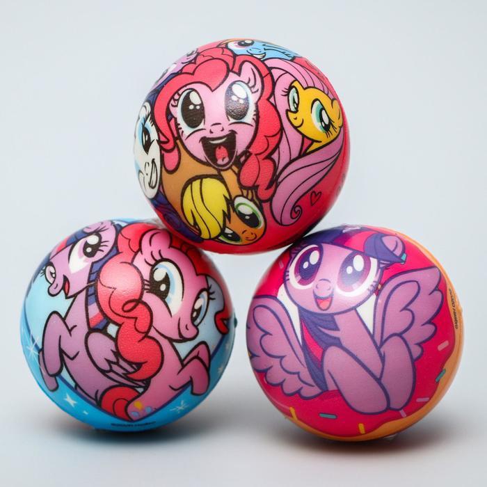 """Мягкий мяч """"Друзья"""" My Little Pony 6,3см, микс"""