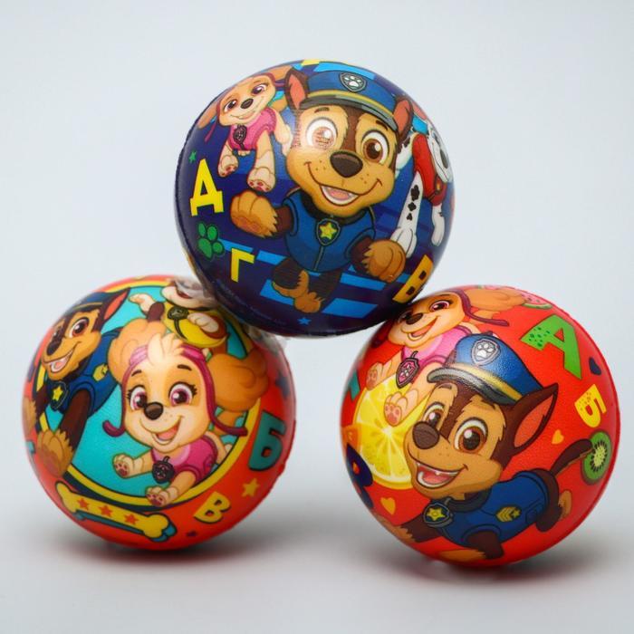 """Мягкий мяч PAW PATROL """"Алфавит"""" 6,3см, микс"""