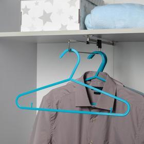 Вешалка-плечики для одежды Доляна, 39×20,5 см, цвет МИКС