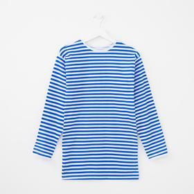 Тельняшка мужская, цвет белый/синий, размер 56 Ош