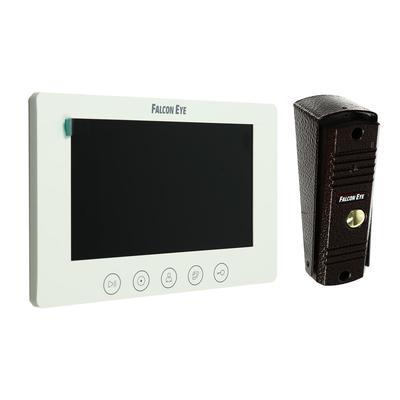 "Комплект видеодомофона Falcon Eye KIT- Cosmo, дисплей 7"" TFT, ИК подветка, белый"