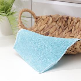 Салфетка с волокнами бамбука Доляна, 23×18 см, цвет МИКС Ош
