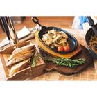 """Сковорода 23,5х14 см """"Овал"""" с держателем, на деревянной подставке - Фото 6"""