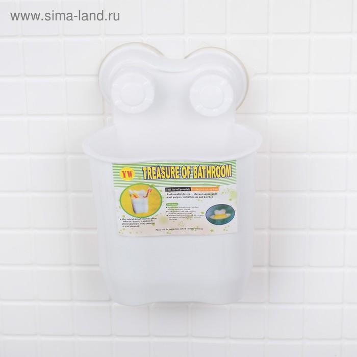 """Держатель для ванных принадлежностей на присосках """"Белая коллекция"""""""