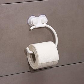 Держатель на присосках для туалетной бумаги «Белая коллекция», 14,5×17×3 см Ош
