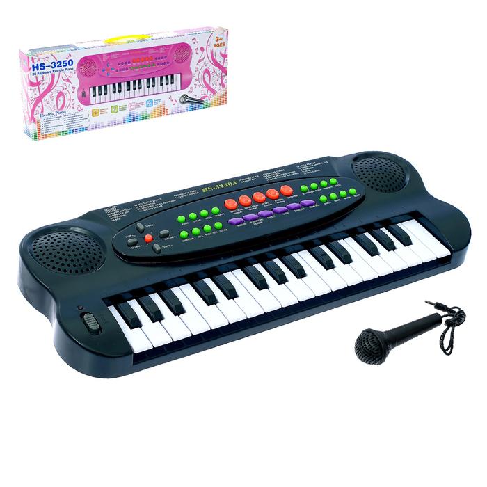 """Синтезатор """"Музыкальная игра"""" с микрофоном, 32 клавиши."""
