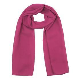 Шарф текстильный, цвет винный, размер 50х160 см