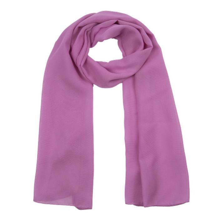 Шарф текстильный, цвет сиреневый, размер 50х160 см