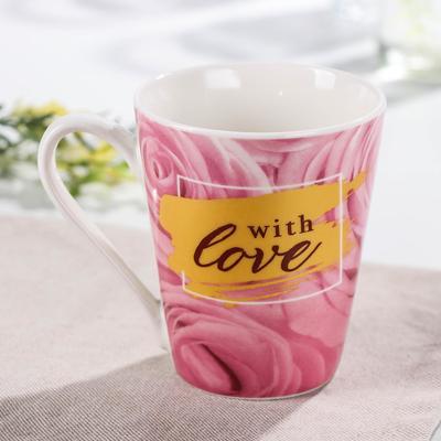 Кружка Доляна «8 Марта. Розы», 320 мл - Фото 1