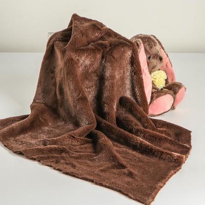 Лоскут для рукоделия, мех, на трикотажной основе, 50х50 см, цвет тёмно-коричневый - Фото 1