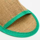 """Тапочки с открытым мысом льняные, в индивидуальной упаковке """"Боббер"""" Natural green - Фото 4"""