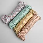 Верёвка бельевая Доляна, d=6 мм, длина 10 м, цвет МИКС - Фото 3