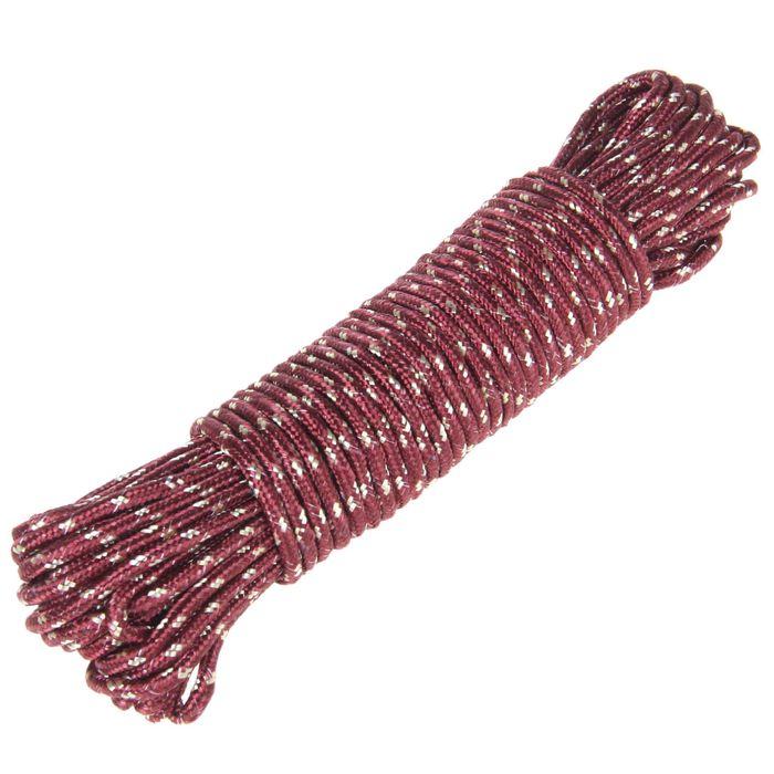 Верёвка бельевая Доляна, d=7 мм, длина 20 м, цвет МИКС