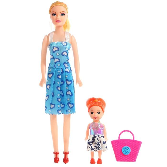 Кукла-модель Оля с дочкой, с аксессуарами, МИКС
