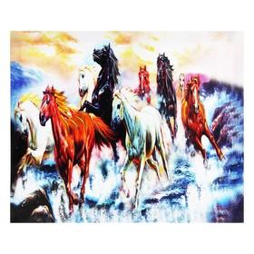 Картина на подрамнике 'Кони ретивые' Ош