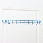 Вешалка настенная на 10 крючков Доляна «Лайт», 58?3?5 см, цвет МИКС