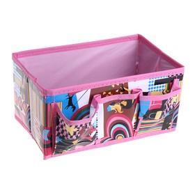 Бокс для мелочей «Модница», 3 кармана, 25×15×12 см, цвет розовый Ош