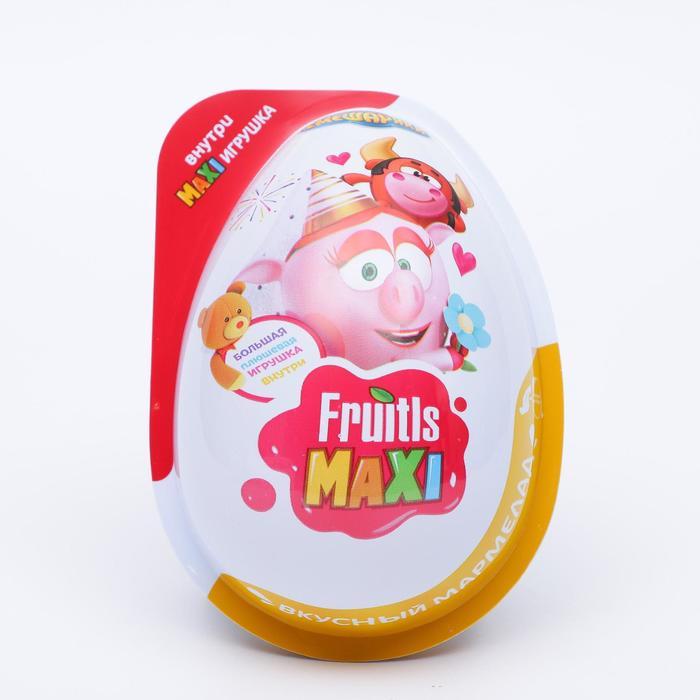 FRUITLS MAXI СМЕШАРИКИ Мармелад в пластиковом яйце с плюшевой игрушкой 6/8, 10г.