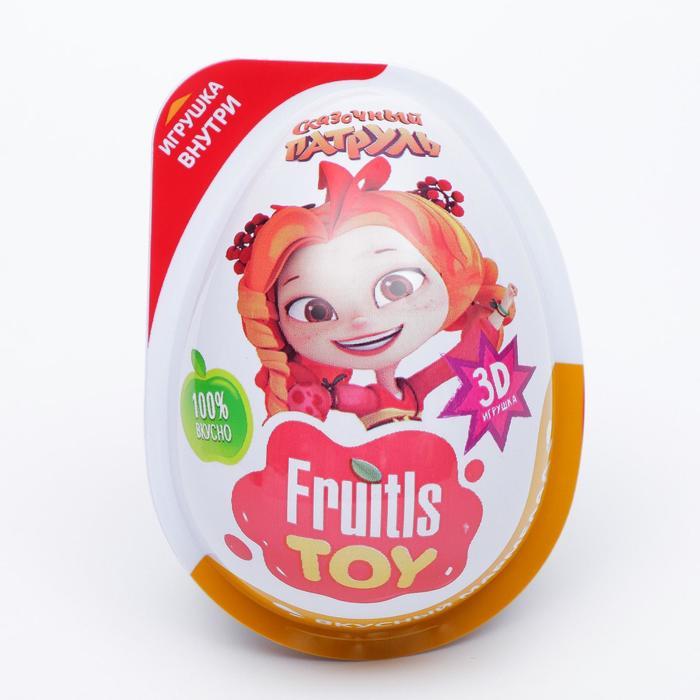 """FRUITLS TOY """"СКАЗОЧНЫЙ ПАТРУЛЬ"""" Мармелад в пластиковом яйце с игрушкой 6/12, 10г."""