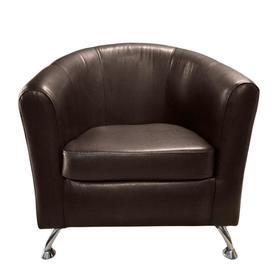 "Кресло ""Во"" экокожа TEOS Dark Brown"