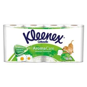 Туалетная бумага Kleenex Aroma Care «Нежная ромашка», 3 слоя, 8 рулона