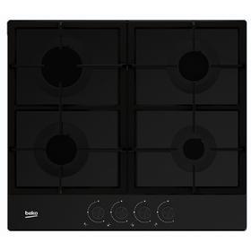 Варочная поверхность Beko HIAG 64225 SB, газовая, 4 конфорки, черная