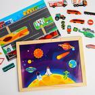 Бизи - чемоданчик «Транспорт», с развивающими игрушками - Фото 2