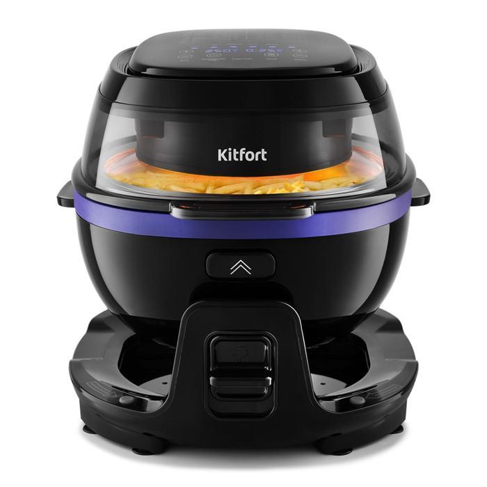 Аэрогриль Kitfort КТ-2218-1, 1400 Вт, 5 л, 6 программ, чёрный