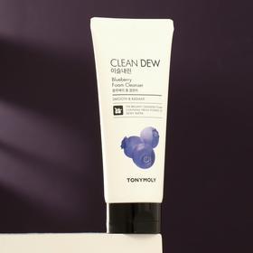Очищающая пенка для умывания TONYMOLY Clean Dew с экстрактом черники, 180 г