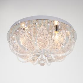 Люстра с ПДУ 36950/5 Е14+LED хром, d=50 см, h=26 см