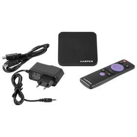Приставка Смарт ТВ HARPER ABX-210, 2Гб, 8Гб, Android, 4K, Wi-Fi, HDMI, USB, черная Ош