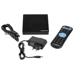 Приставка Смарт ТВ HARPER ABX-332, 3Гб, 32Гб, Android, 4K, Wi-Fi, HDMI, USB, черная