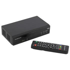 Приставка для цифрового ТВ HARPER HDT2-2030, FullHD, DVB-T2, HDMI, RCA, USB, черная