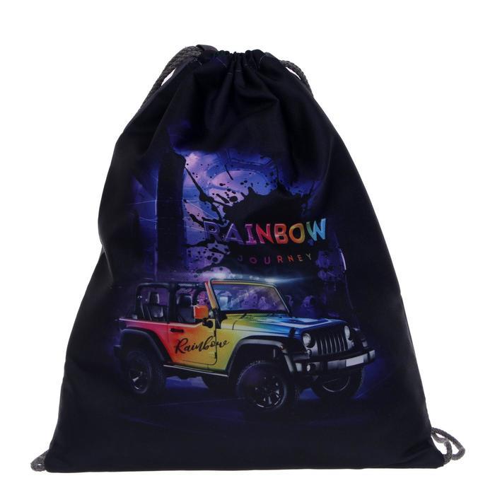 "Мешок для обуви 430 х 340 мм, Stavia, для мальчика ""Джип rainbow"""