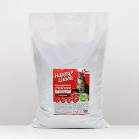 Сухой корм Happy lunch для кошек всех пород, говядина 15 кг